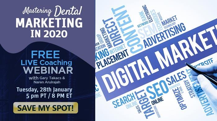 Mastering Dental Marketing in 2020 webinar